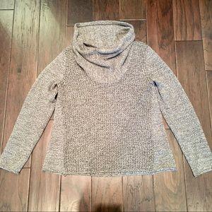 Eileen Fisher Cowl Neck Sweater Organic Gray Grey